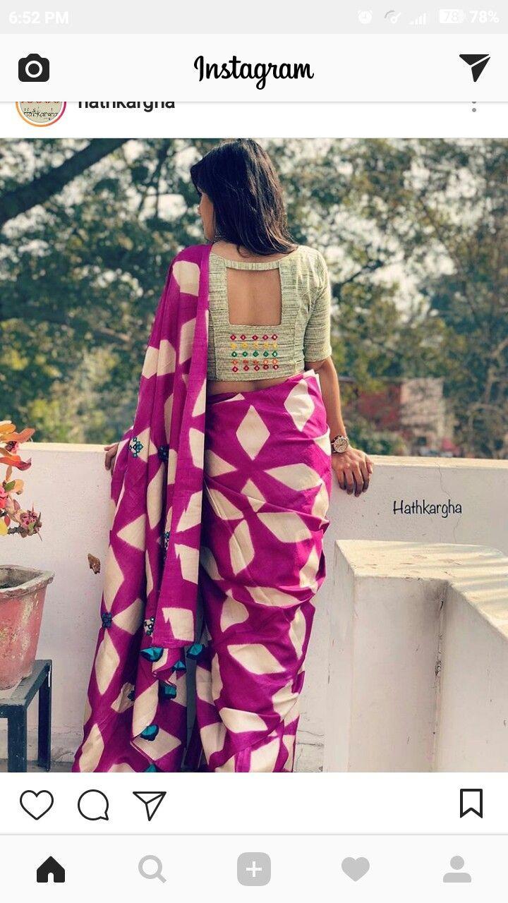 Design of saree blouse pin by shraddha patel on indian designer wear  pinterest  blouse