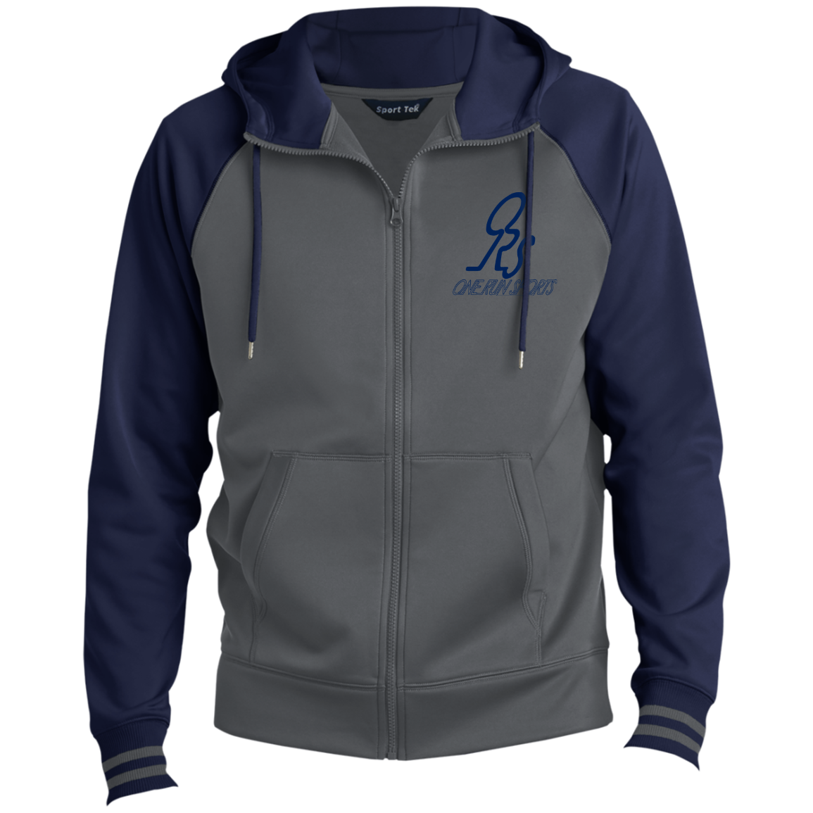 Men's Blue SportFullZip Hooded ORS Jacket Hooded
