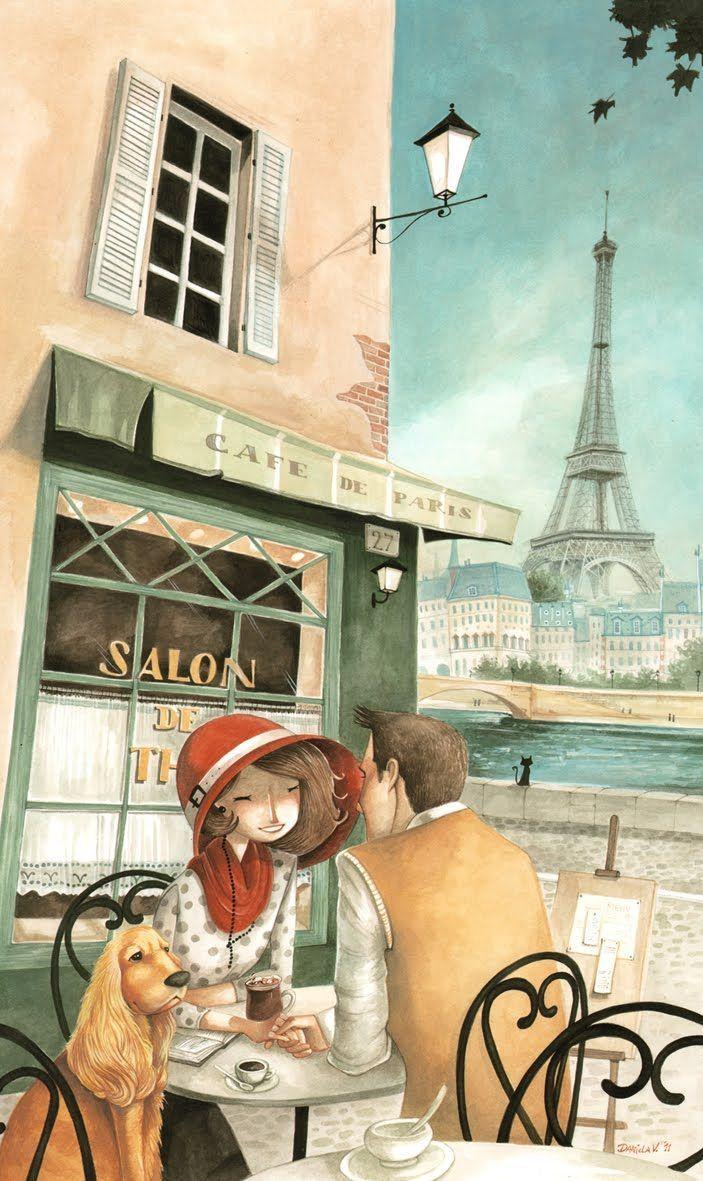 Французские открытки про любовь, праздник