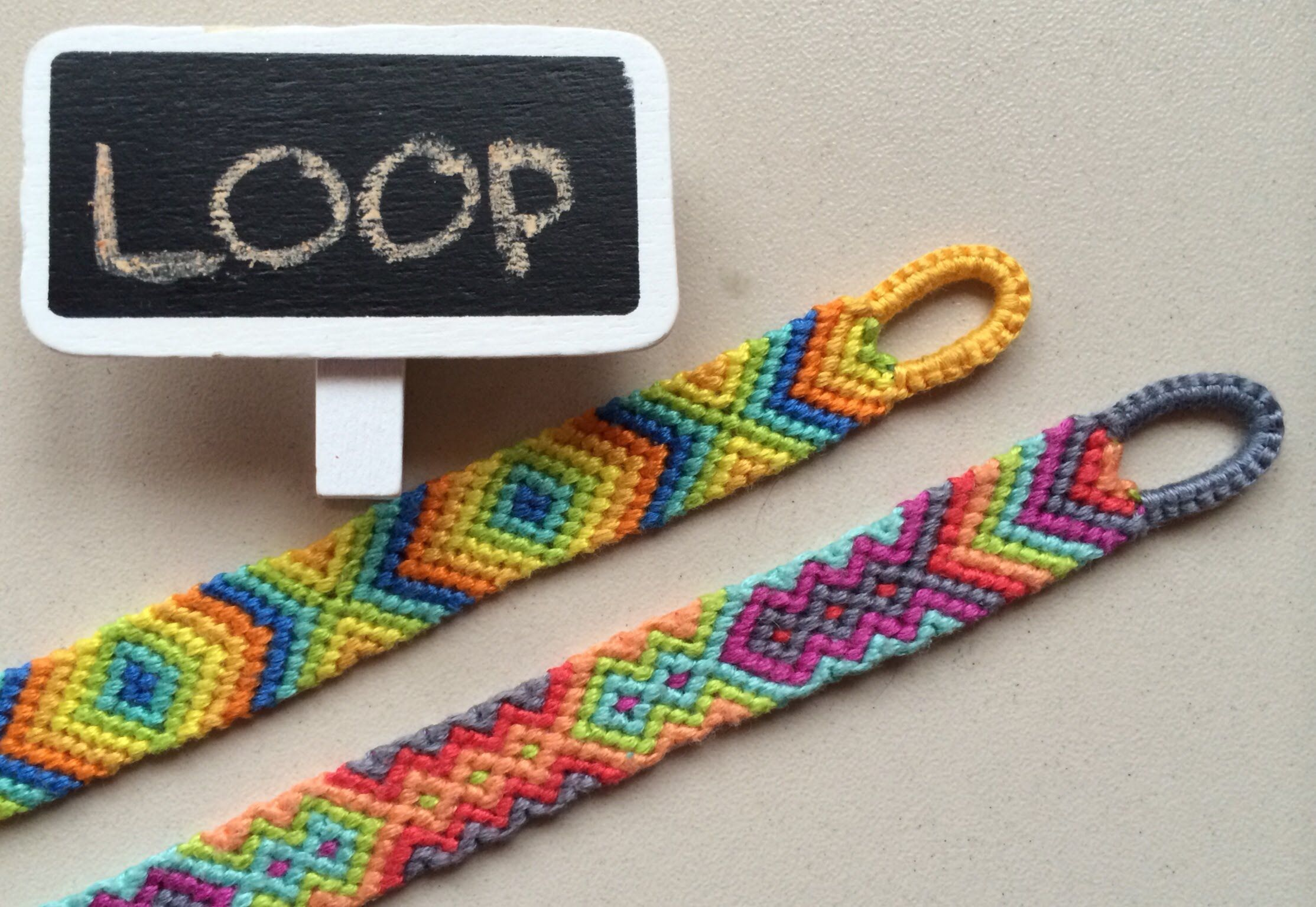 Easy way to make quality loop for your friendship bracelet or any