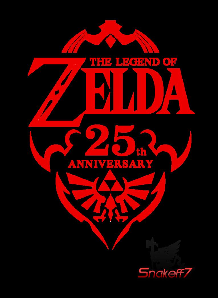 The Legend of Zelda 25th Anniversary Logo.