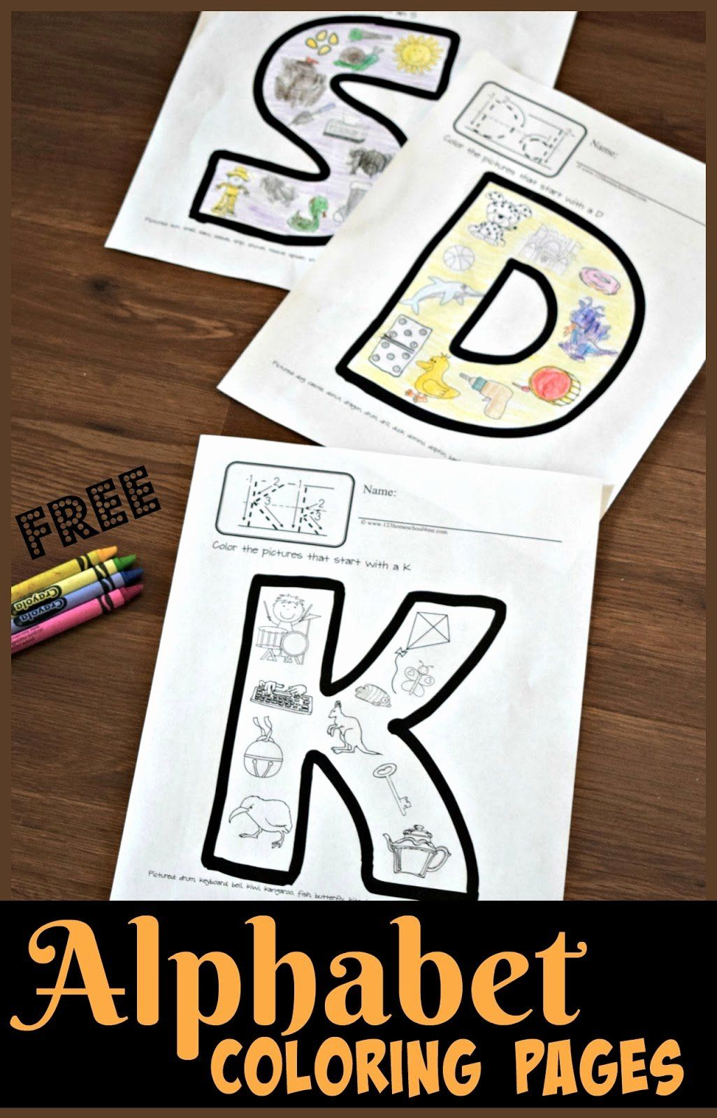 Free Printable Alphabet Coloring Pages In With