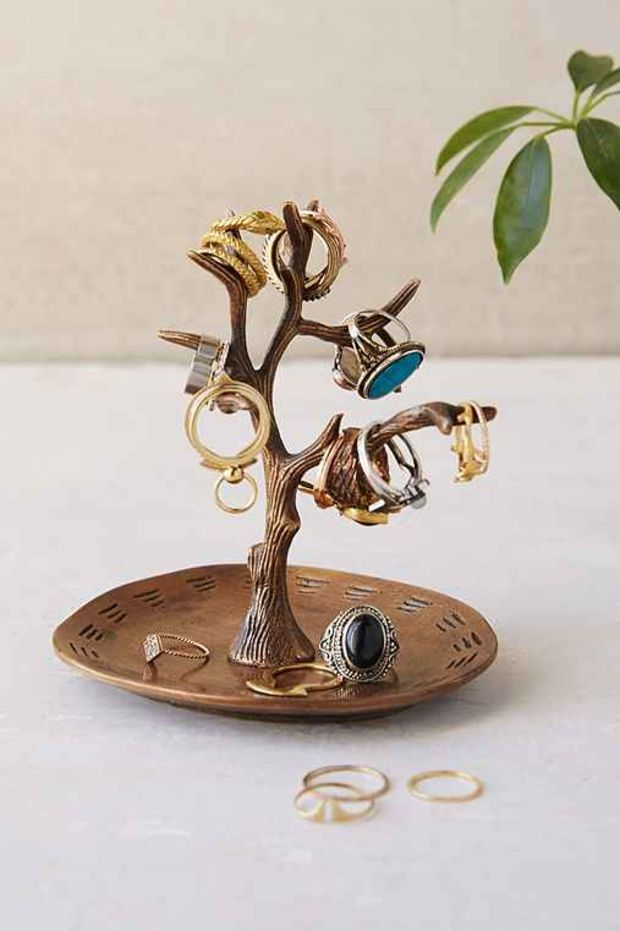 Magical Thinking Tree Ring Holder Gold One Jewelry Stand Jewellery Storage Tree Ring Holder