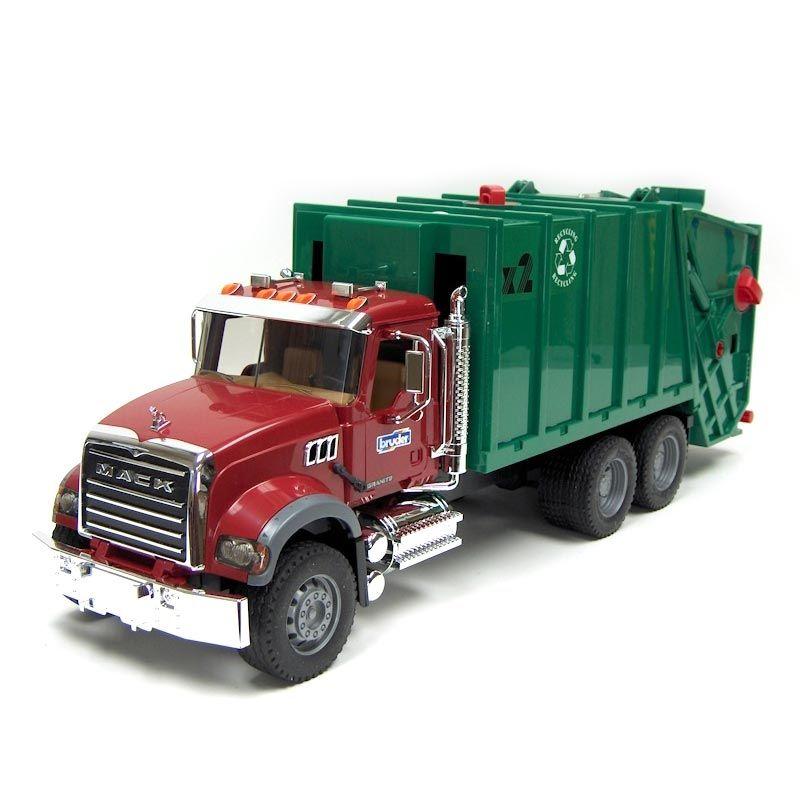 1 16 Bruder Mack Granite Rear Loading Garbage Truck Garbage Truck Trucks Mack