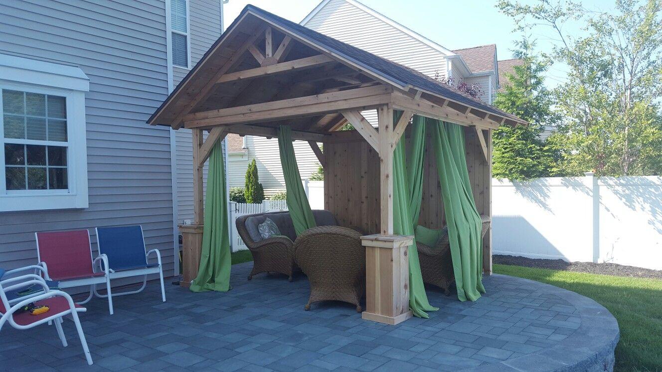 Cedar Pergola Tiki Construction 631 786 6166 Suffolk County Long Island Ny Carport Cedar Pergola Outdoor Decor