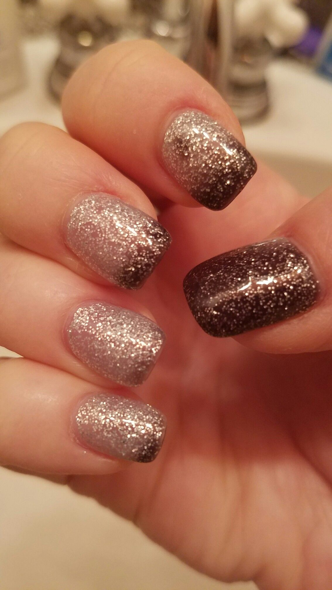 Ombre sparkle by Kelly for New Year\'s nails. | Nails | Pinterest ...
