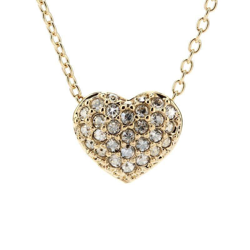 Swarovski Clear Crystal Goldtone HEART SET Necklace & Earrings #5030713 – Zhannel