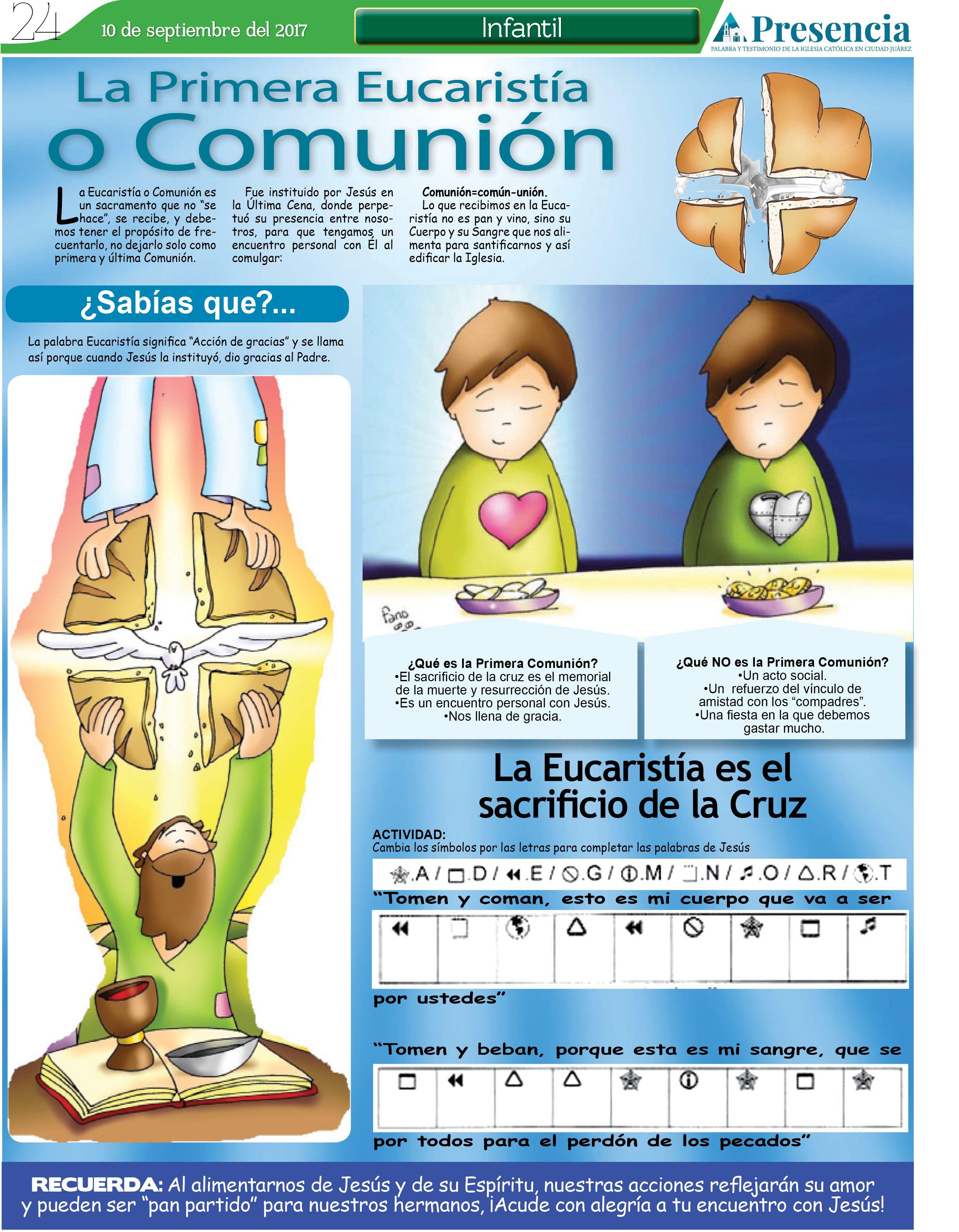 La Primera Eucaristia O Comunión Presencia Digital Temas De Catequesis Eucaristía Enseñanza Religiosa