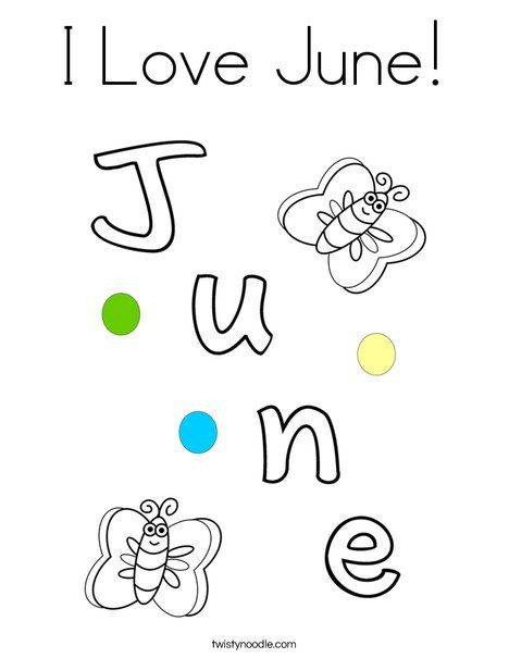 I Love June Coloring Page Bible Activities For Kids Coloring Pages Bible For Kids