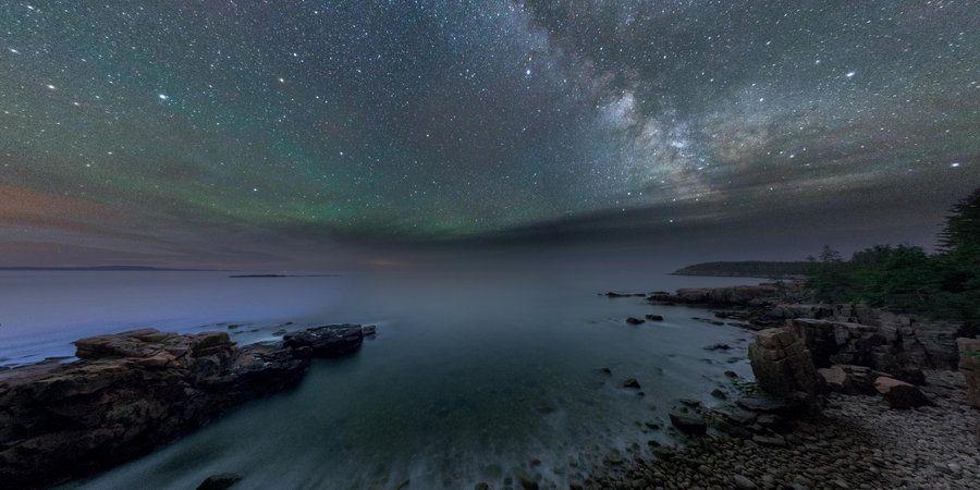 Milky Way from Ocean Path on Round me   Google Cardboard/VR