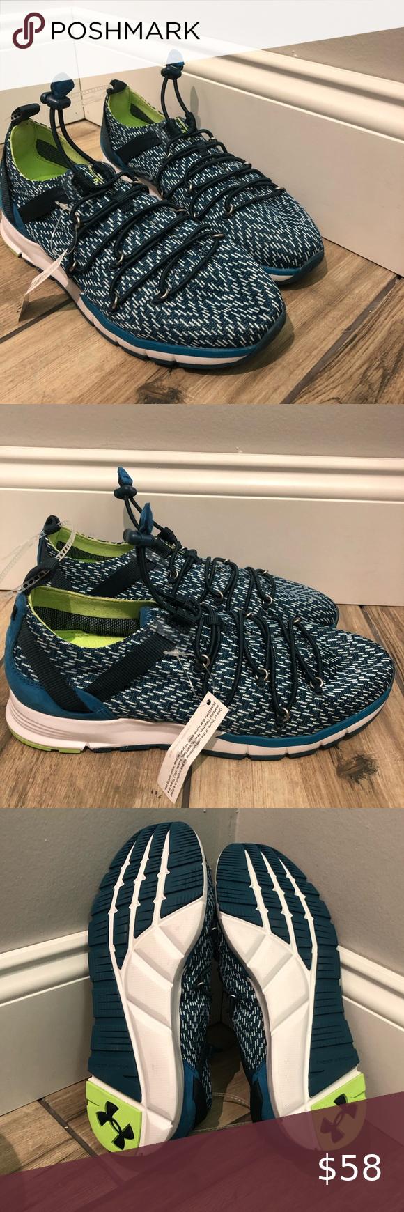 Under Armor charged speed knit shoe