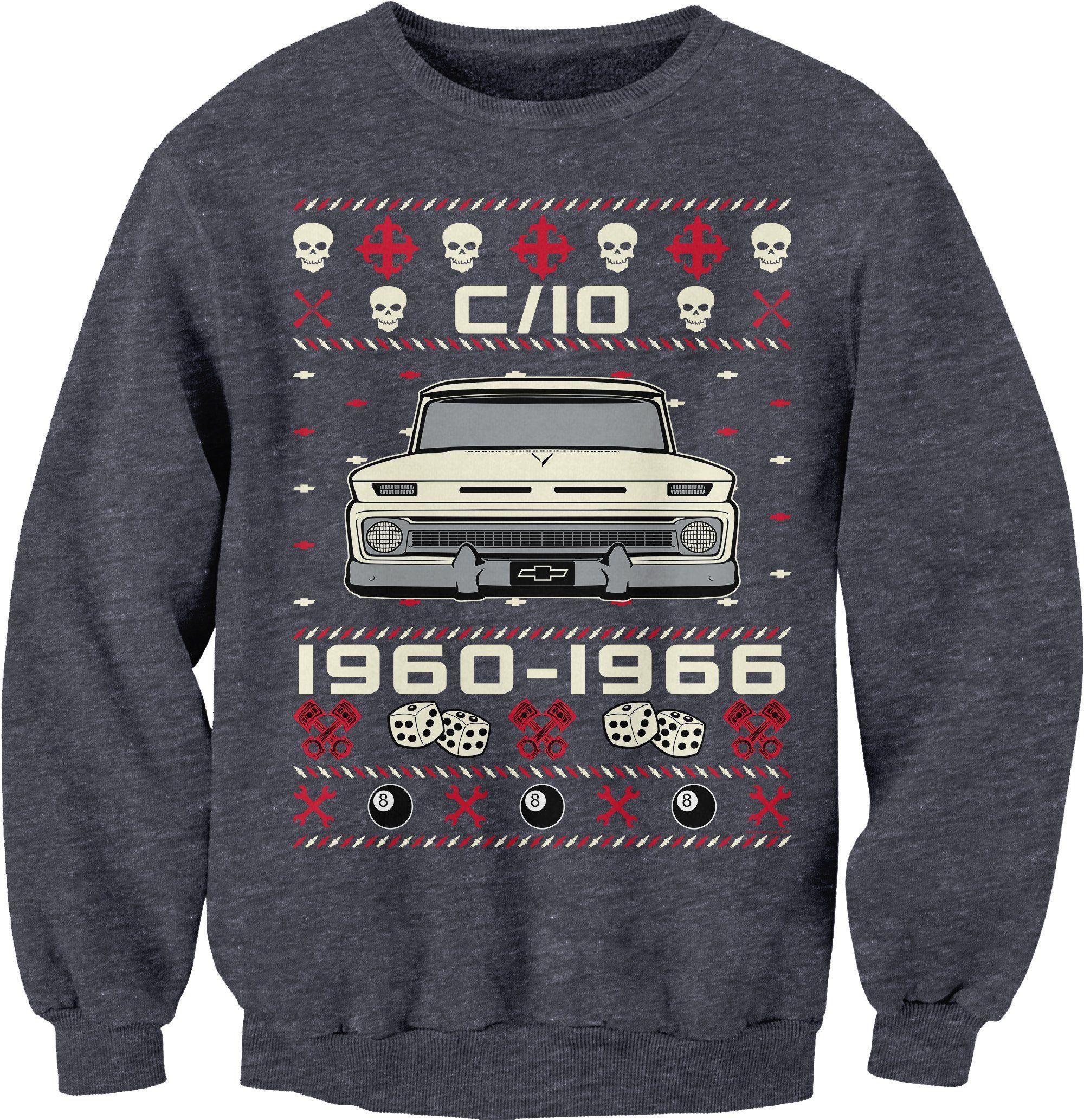 1960 1966 Chevy C10 Grumpy Christmas Sweater Style Sweat Shirt Sweatshirts Funny Christmas Sweaters Christmas Sweaters [ 2067 x 2000 Pixel ]