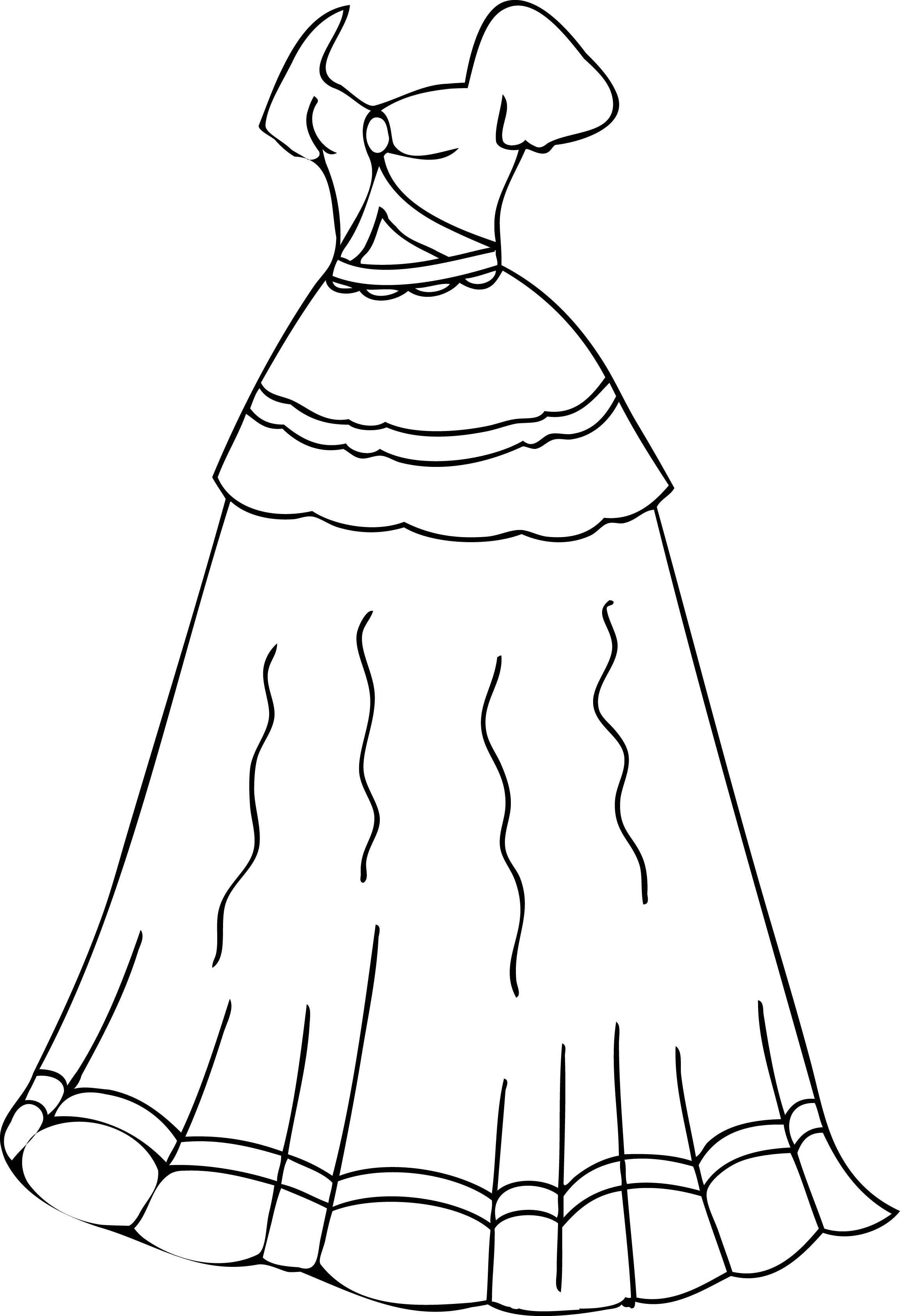 cool dress coloring pages printable