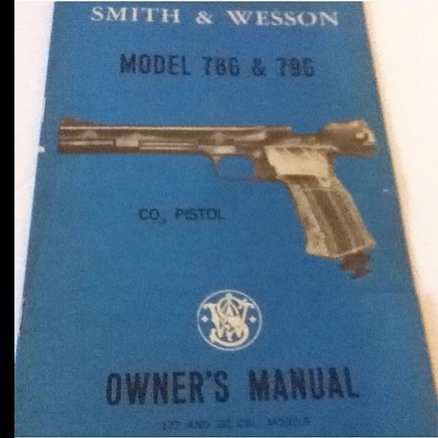 vintage smith and wesson owners manual model 786 796 gun manual rh pinterest com smith and wesson owner's manual 28-2 smith and wesson shield owners manual