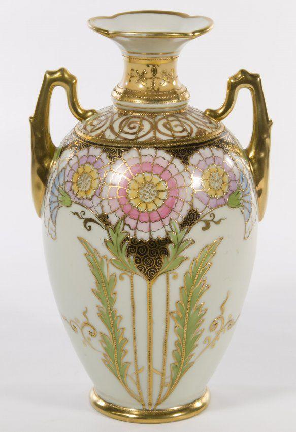 Morimura Nippon Porcelain Vase On Potteryceramics More