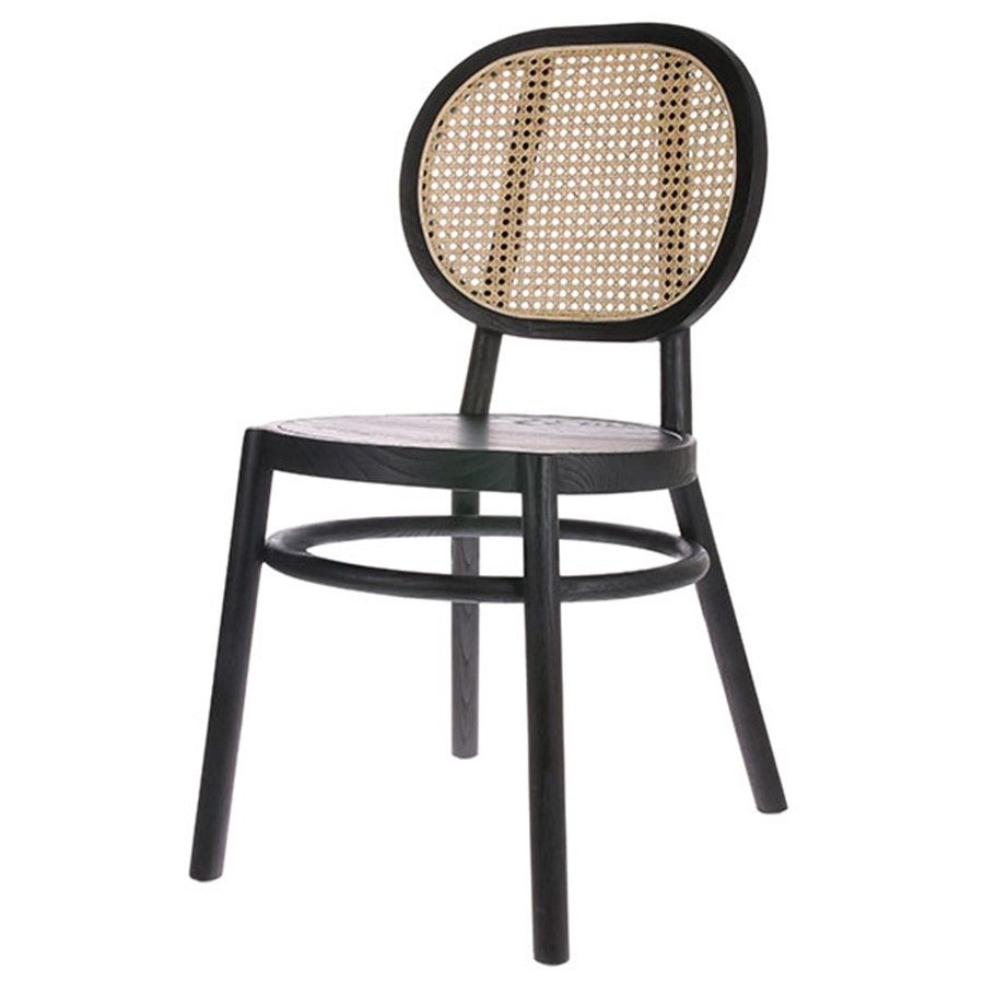 Retro Webbing Chair Black Franzosische Bistrostuhle Bistro Stuhle Stuhle