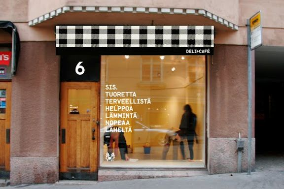 Bold black and white gingham makes a bold modern restaurant design - restaurant statement