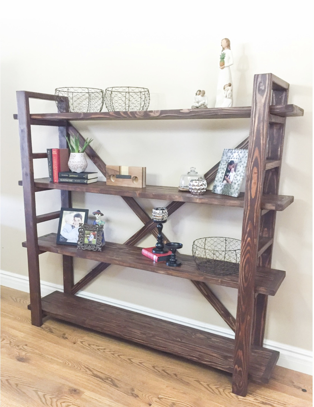 Vintage Country Style Book Shelf Farm House Bakers Rack Its 6 Feet Tall