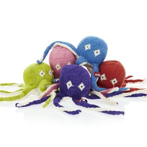 Knitted Octopus Soft Toys by Wolmer at KIN - kinshop.co.za - growing local art & design