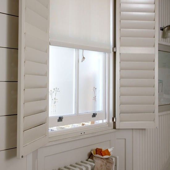 Shutters In The Bathroom I Think D Add Some Color To These Babies Though