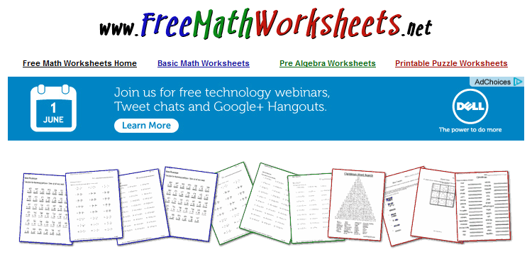 Free Educational Resource: Free Math Worksheets | Free math ...