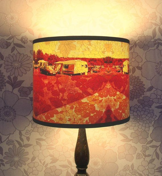 Caravan of love handmade lampshade with original by houseofchintz £65 00