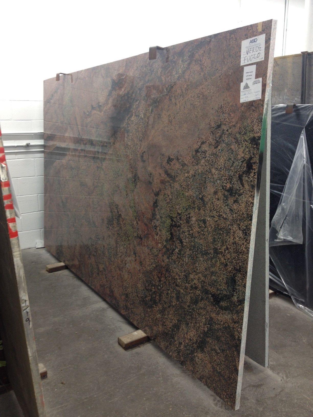Beautfiul Slab Of Verde Fuoco Granite | Midwest Stone Source + Design  Studio | 815.395.