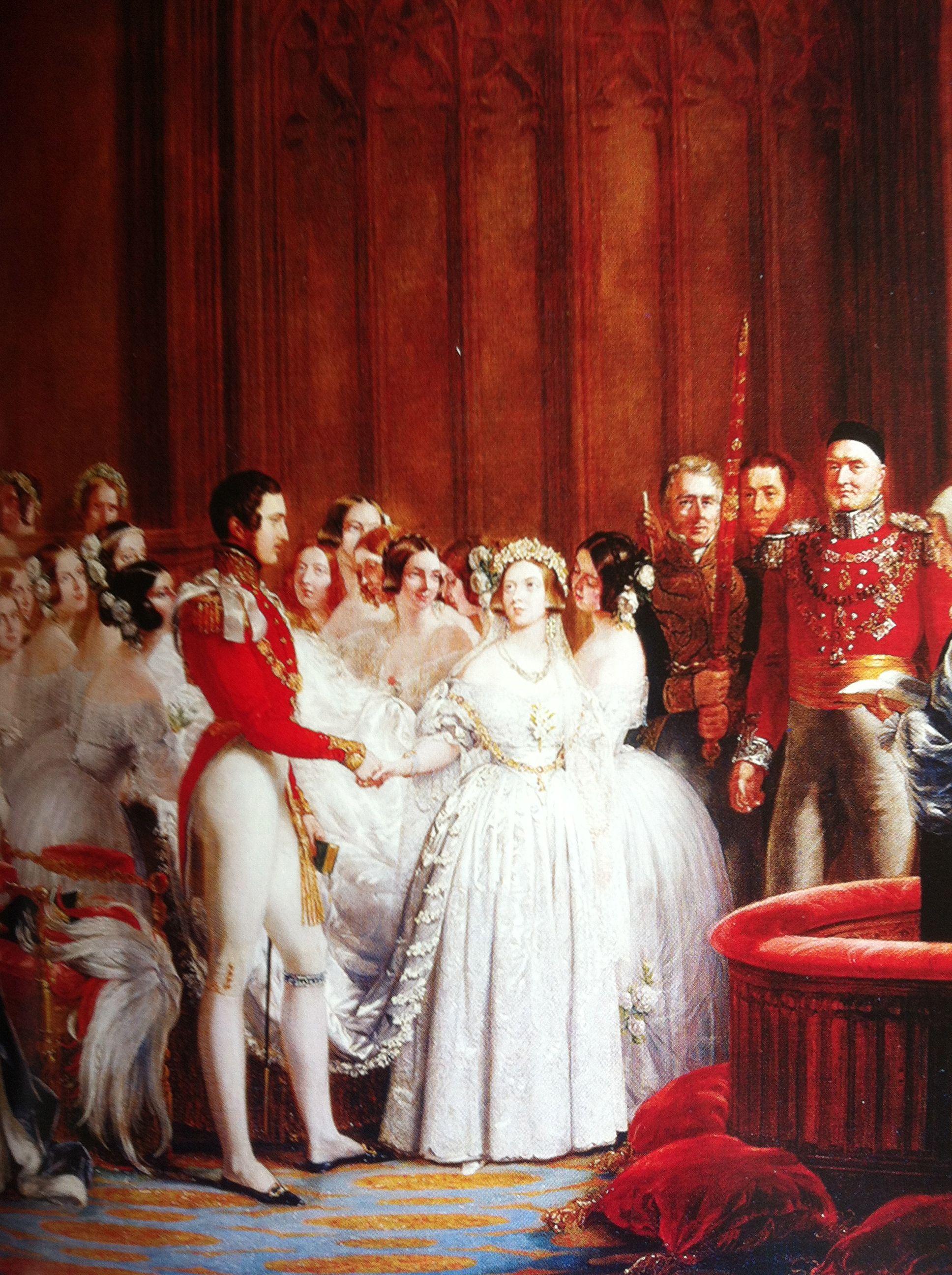 Queen Victoria Wedding 1840 Victoria Bruidsparen Bruid