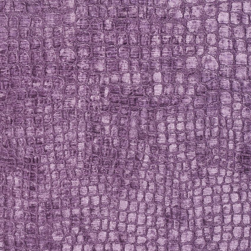 Modern Geometrical Pattern Small Scale Purple Colour Chenille Upholstery Fabrics