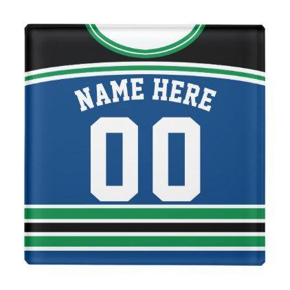 Name Number Jersey Coaster Hockey Lacrosse Glass Coaster Zazzle Com Lacrosse Custom Sports Jerseys Glass Coasters