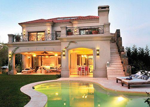 Fern ndez borda arquitectura casa estilo cl sico toscano for Fachadas de casas estilo clasico