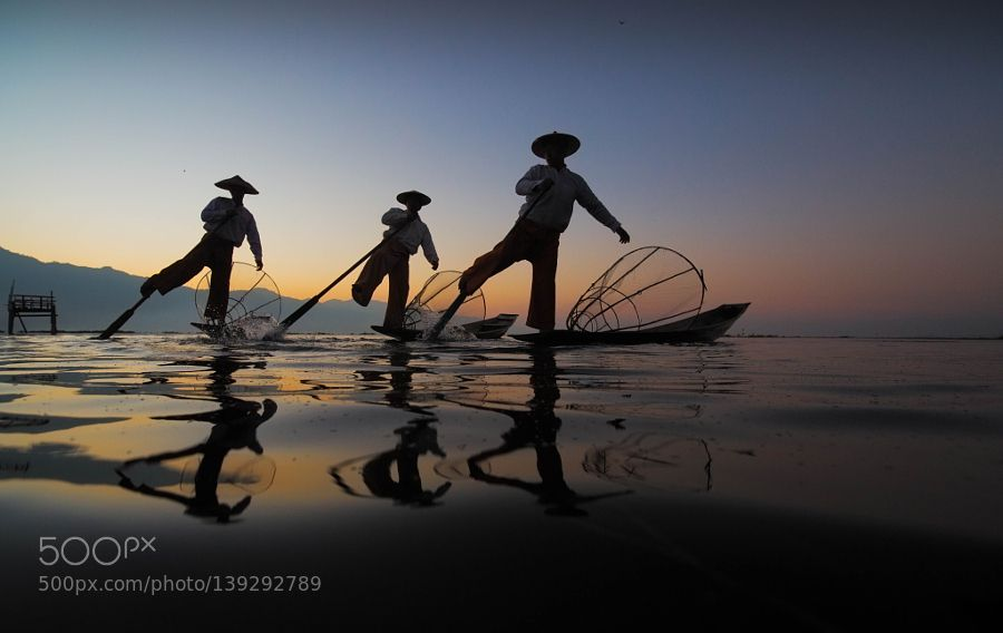 Popular on 500px : Reflection of Inle lake by Yongyot_Therdthai