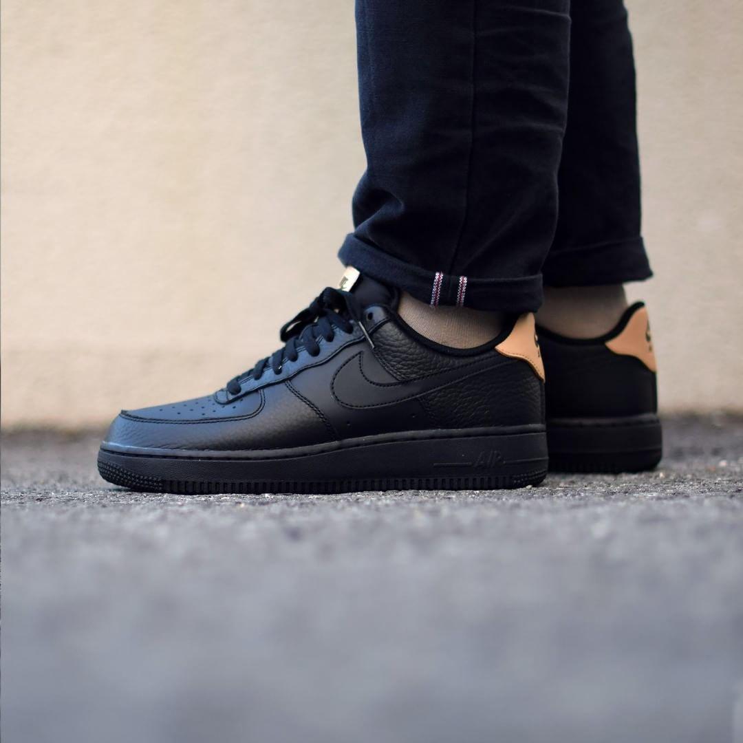 Nike Air Force 1 Black Vachetta Tan