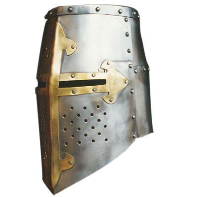 Medieval Crusader Great Helm Bucket Helmet Barrel Helmet Crusader Knights Helmet