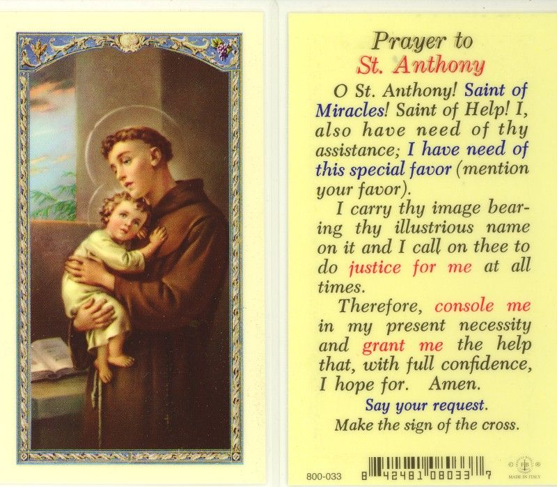 how to ask st anthony for help