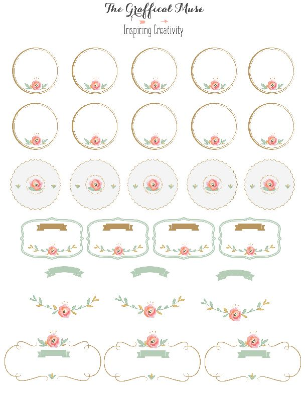 Free Printable Pink Floral Labels And Stickers  Printables