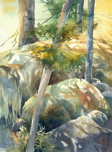 Nov 12 Walk In The Sunshine With Images Famous Watercolor
