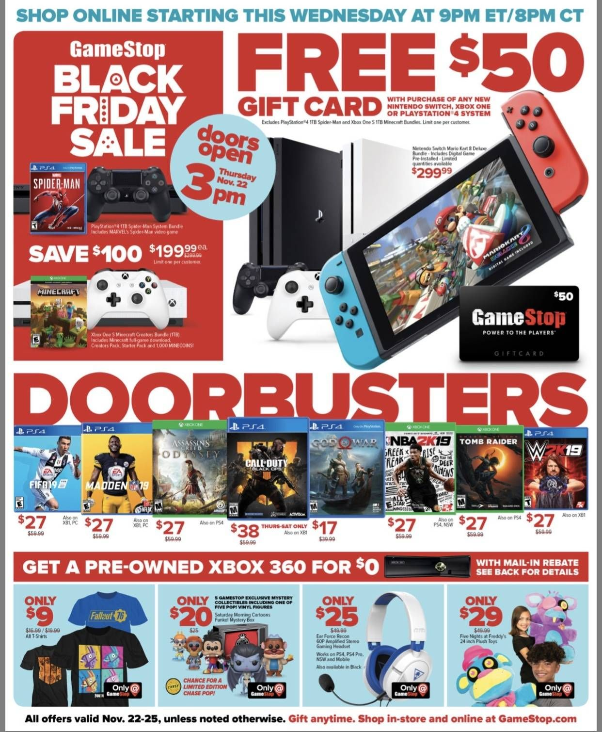 Ps4 Pro 1 Tb Red Dead Redemption 2 Bundle 399 Free 50 Gamestop Giftcard Black Friday Ads Black Friday Gift Card Sale