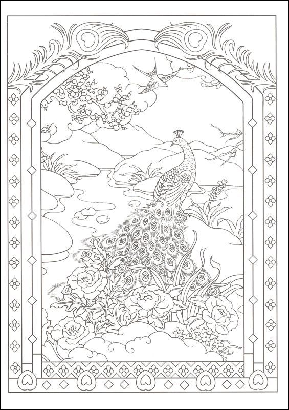 peacock coloring page  designs coloring books peacock