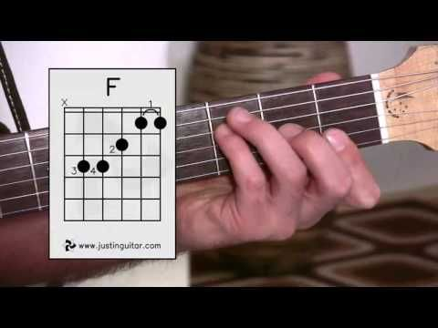 The Dreaded F Chord (Guitar Lesson BC-161) Guitar for beginners ...