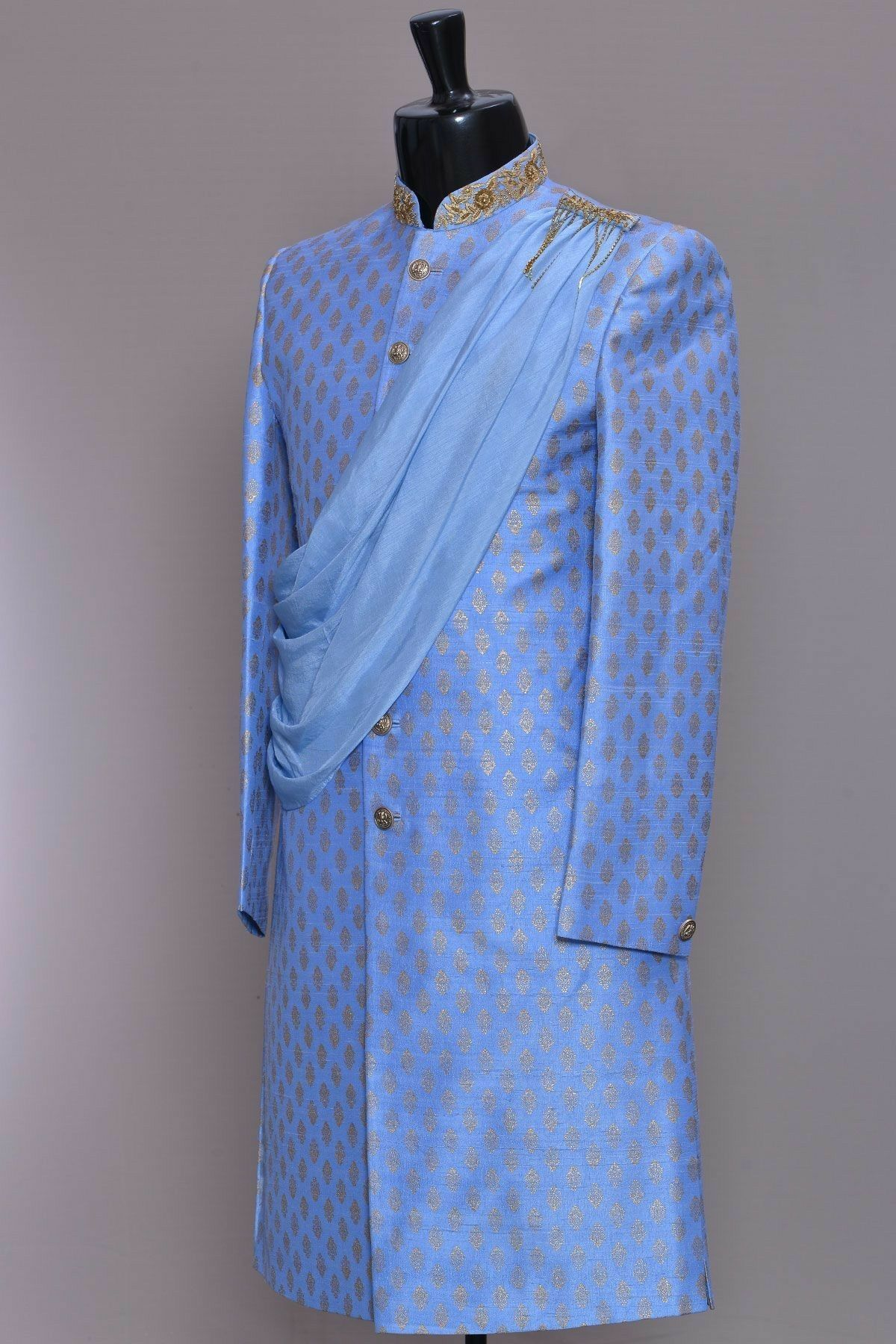 Blue shaded indian traditional outfit indianfashion indianwear