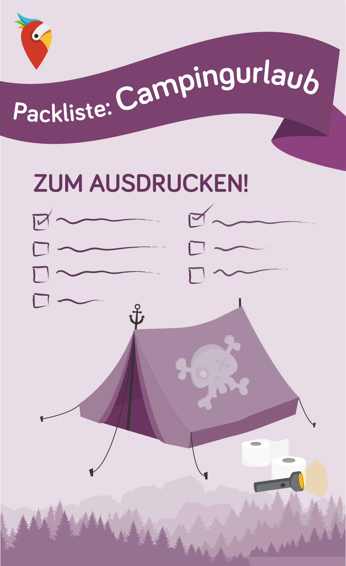 Photo of Packing list camping holiday – tips with PDF for printing