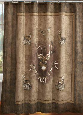 Horse Instead Of Deer On Tan Muslin Cabela 39 S Cabela 39 S Whitetail Ridge Shower Curtain