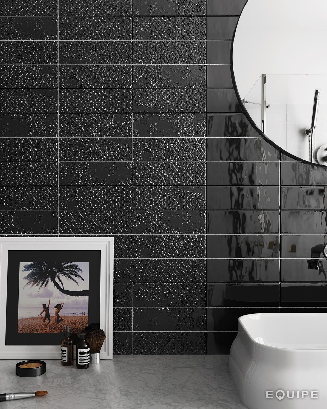 Country anthracite decor brocade anthracite 65x20 architecture lovely soft hand made effect with slightly wavy finish european made glazed ceramic wall tile dailygadgetfo Choice Image