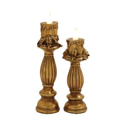 Woodland Imports 2 Piece Candlestick Color: