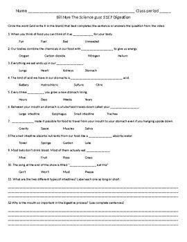 Digestion Worksheet Answers   worksheet