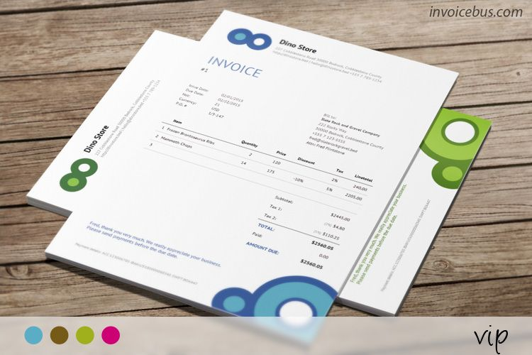 Responsive Invoice Template In Html Css Vip Invoice Template Invoice Design Templates