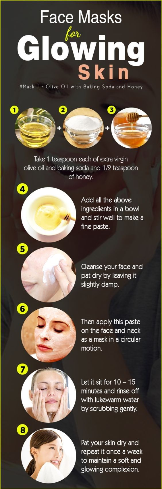 Home remedies for glowing skin in summer  Glowing skin mask, Skin