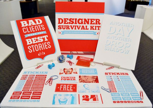 Designer Survival Kit by Shawna Armstrong, via Behance - So freaking awesome XD