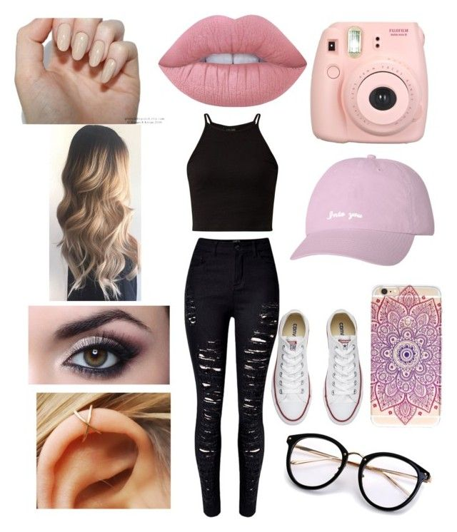 """""""₩¥§"""" by bruhits-lovefor-fashion on Polyvore featuring WithChic, Converse, Fujifilm and Lime Crime"""